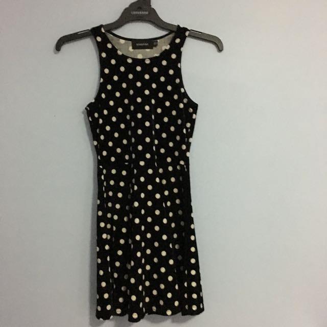 MinkPink Polkadot Velvet Dress