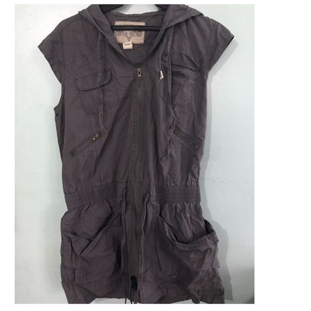 Mossimo Hoodie Vest With Pockets