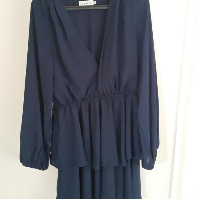 Navy Blue Amalfi Dress