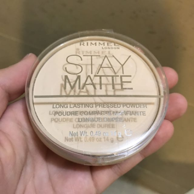 NEW Rimmel Stay Matte Powder 001 Transparent