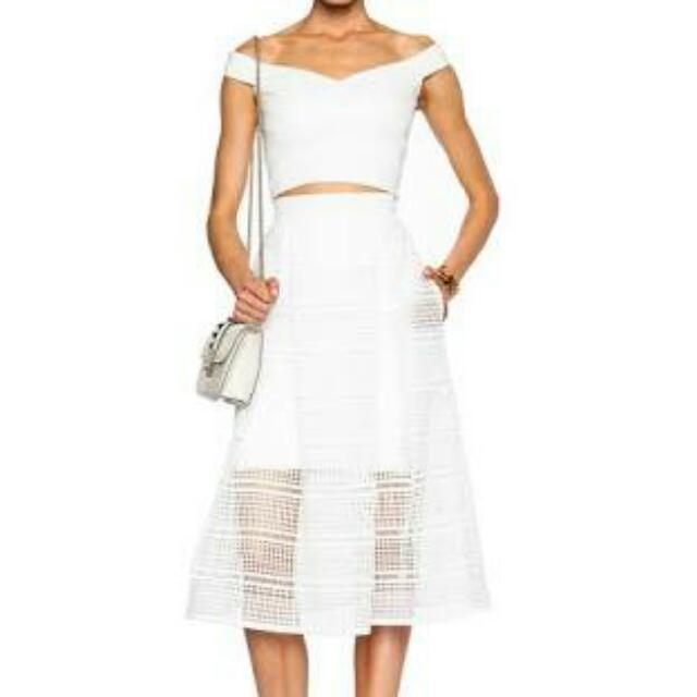 Nicholas Brand Diamond Lace Ball Skirt