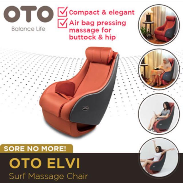 oto elvi - surf massage chair. compact/elegant design. kneading