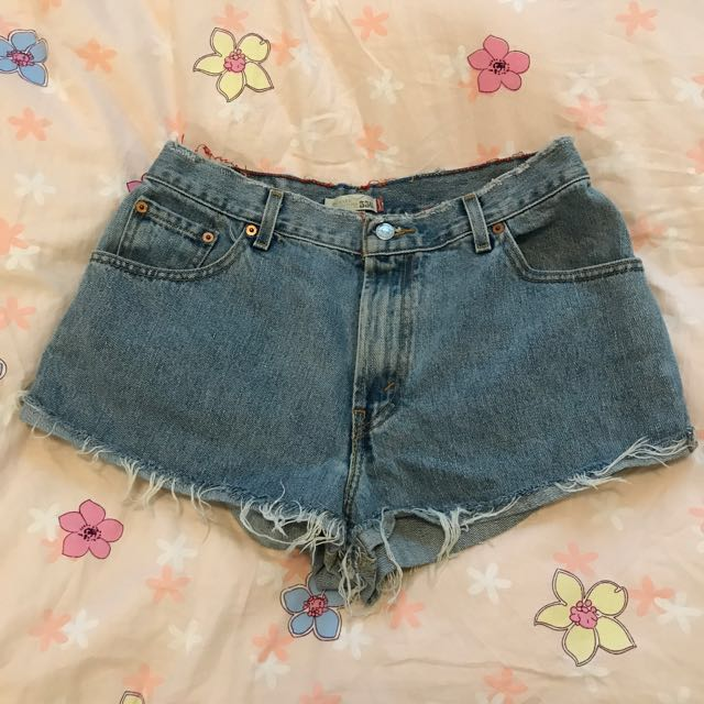 Oversized Levi's Denim Shorts (size M)