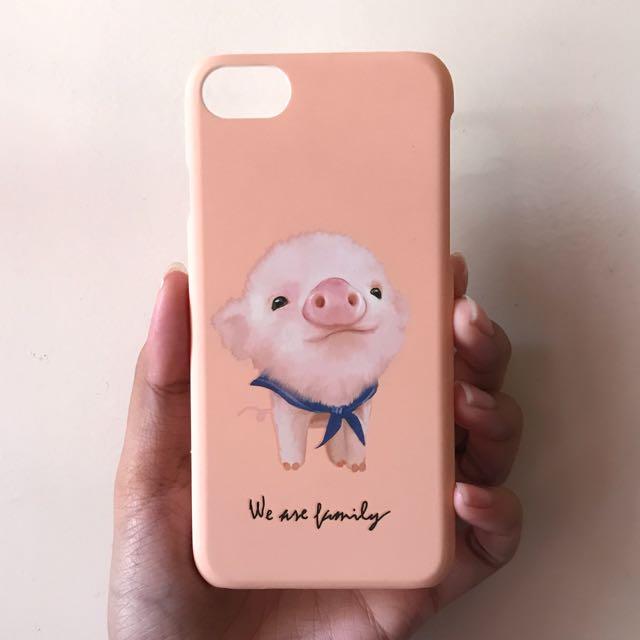 Peach Matte Pig Case