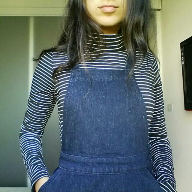Premium Denim Pinafore Dress - Size 2