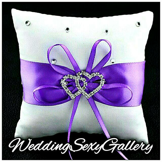 #37🌹◾PREORDER◾🌹 Double Heart Crystal Ring Bearer Pillow Cushion 100*100*45mm