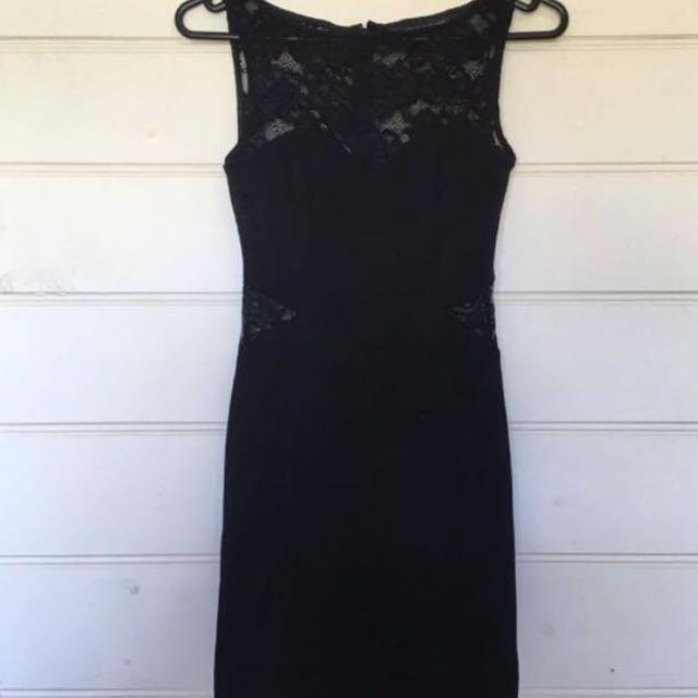 Pretty Lacy Little Black Dress