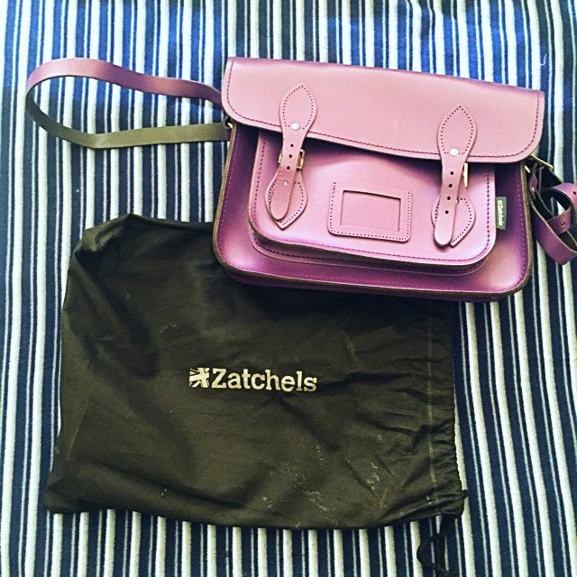Purple Zatchels Bag