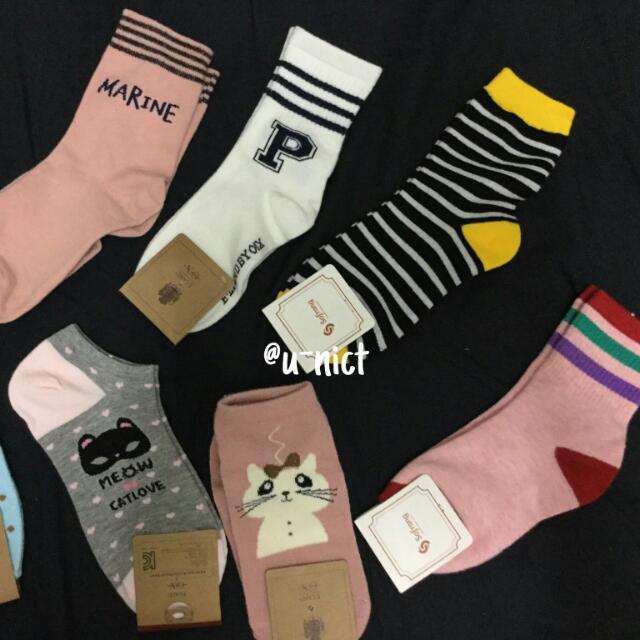 Random Cute Korean Socks
