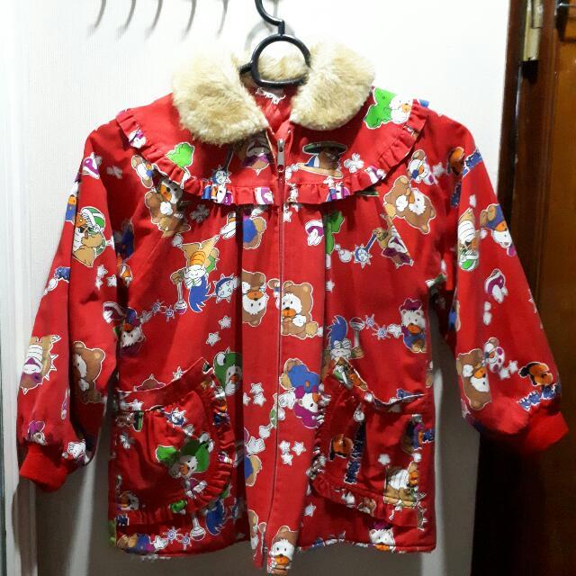 Red Wool Vintage Jacket