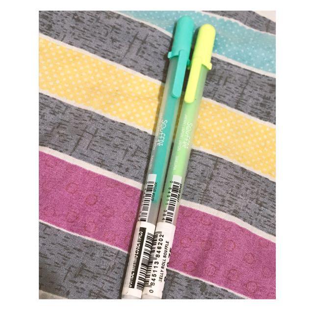 2 Sakura Gelly Roll Souffle Colored Pens