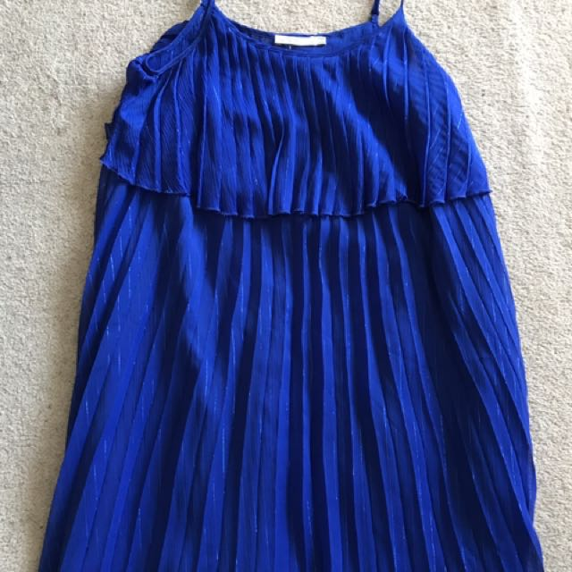 Shoe String Pleated Dress