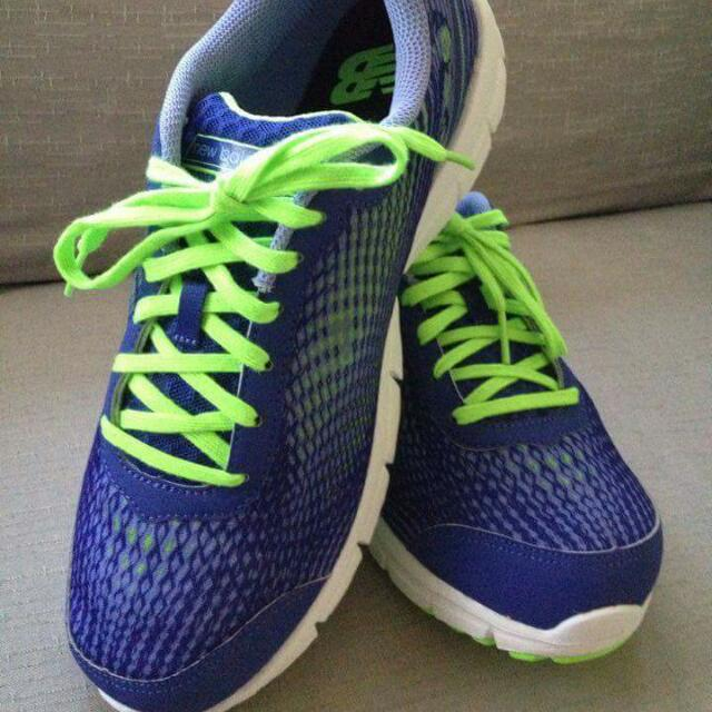Shoes CUSH New  Balance  Women/ Large Running Course Blue Neon Green 9 USa / 7uk / 40.5 Eur / 26 Cm
