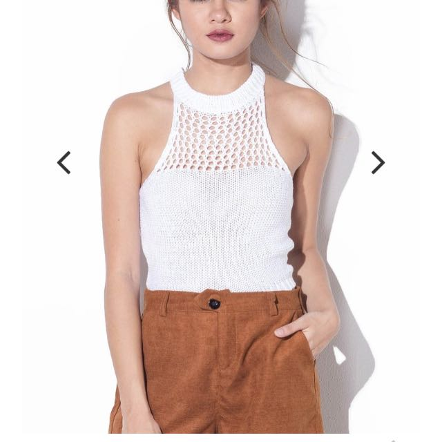 Shopcopper Knitted Halter Top