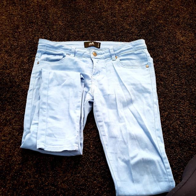 Sky Blue Jeans Dotti Size 9