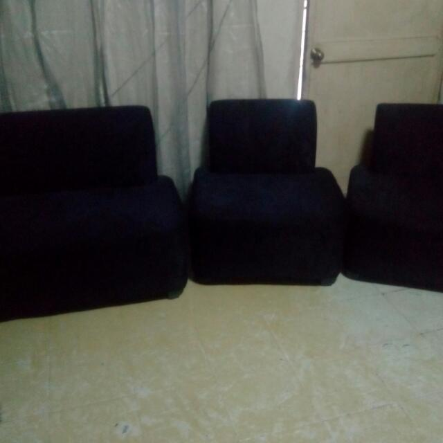 Sofa set (Pitch Black)