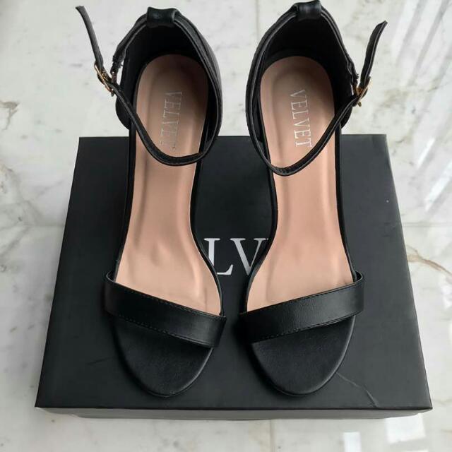 Strap Heels , Velvet Classy Ankle Heel Strap