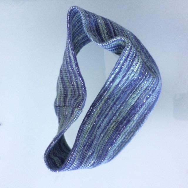 Stretchy thick blue green headband