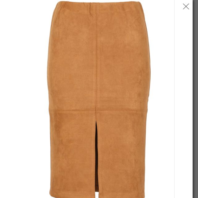 Suede Fitted Skirt Size 10 Size 14 Available