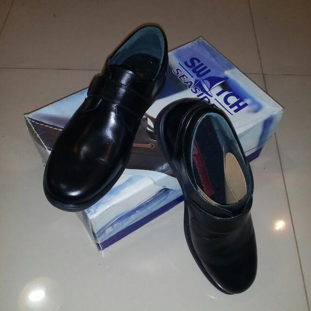 Swatch Black Leather Shoes
