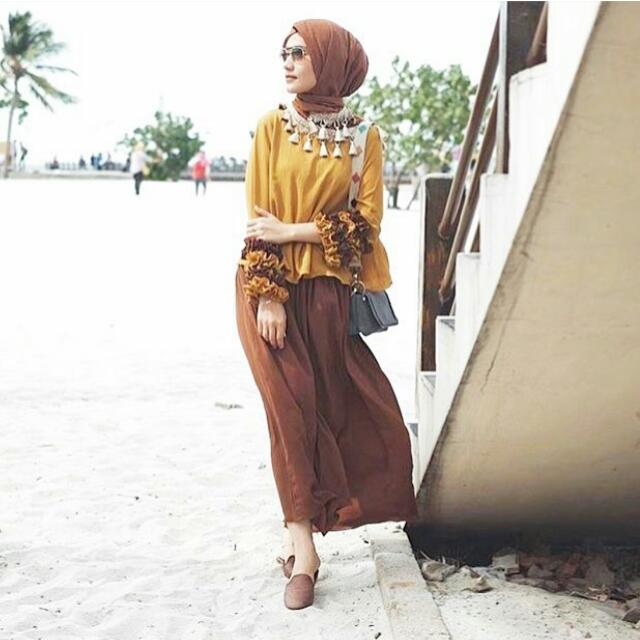 Takana Set By Amolle In Mustard&Choco