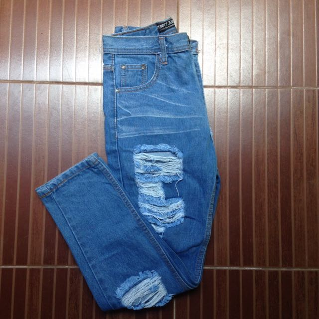 Tattered Denim Pants