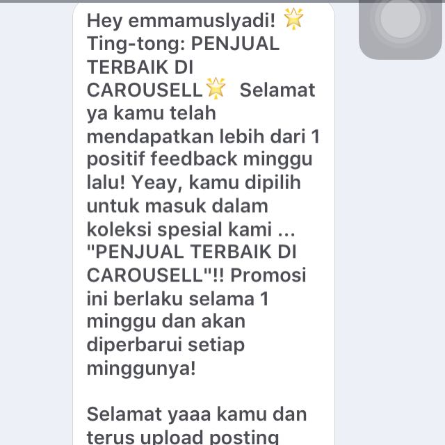 Thanks You Carousell