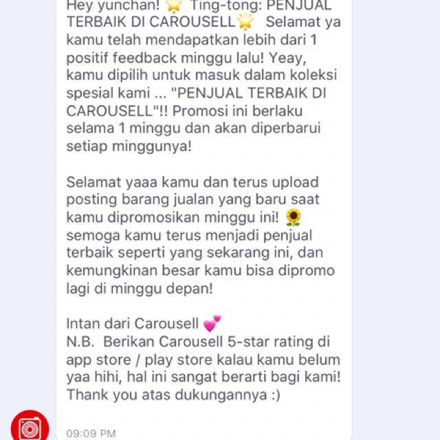 Thankyou Carousell 😍