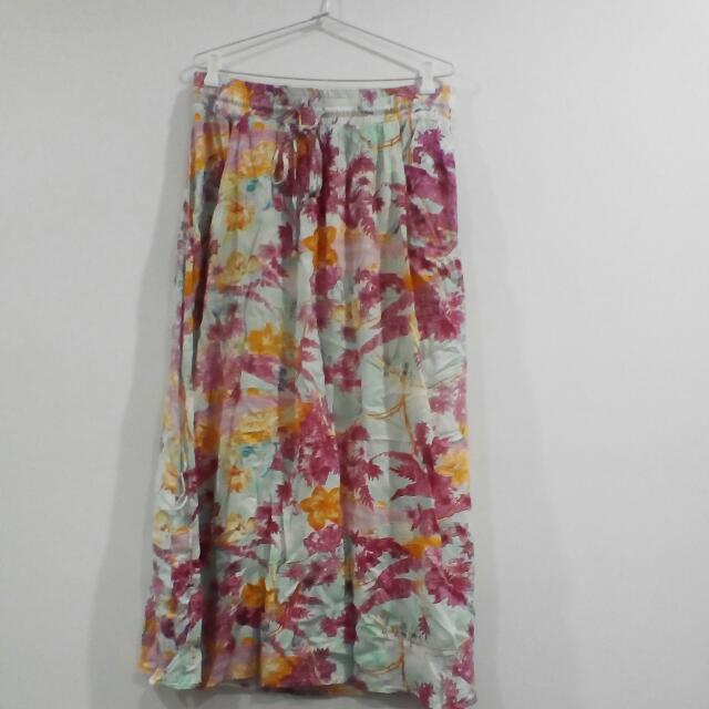Tie Up Maxi Skirt