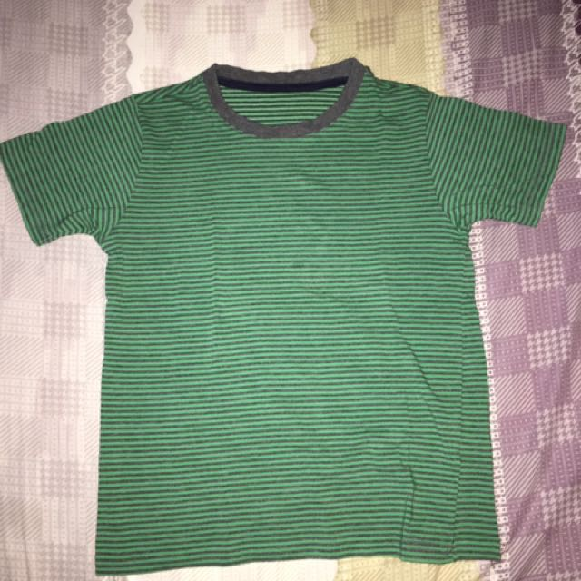 Uniqlo Green Stripes