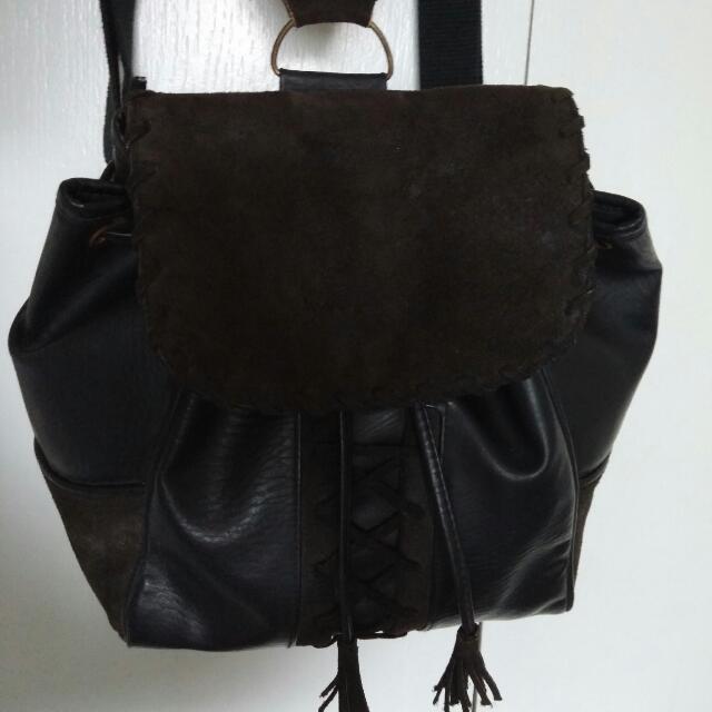 Vintage Aldo leather & suede mini backpack
