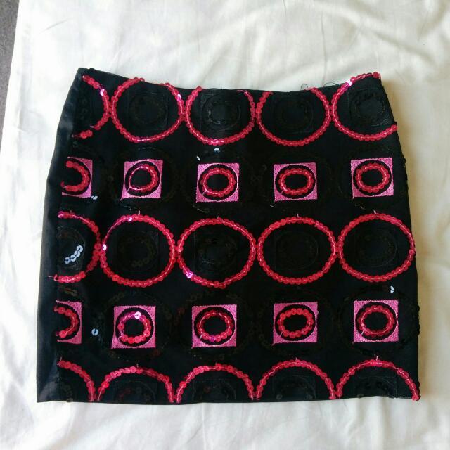 Vintage Sequin Skirt - Size 4