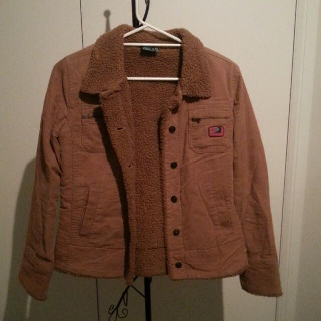 Make An Offer: Warm Brown Jacket With Pockets Size 8