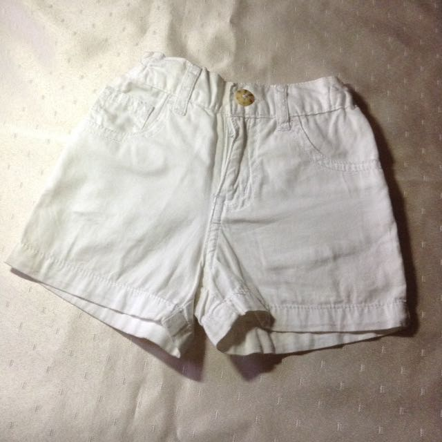 White Shorts For Baby