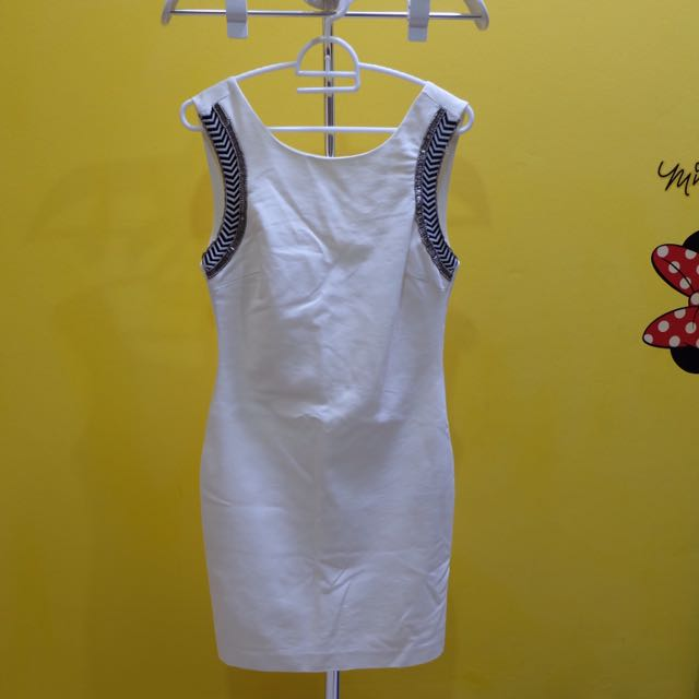 ZARA Zebra Dress White