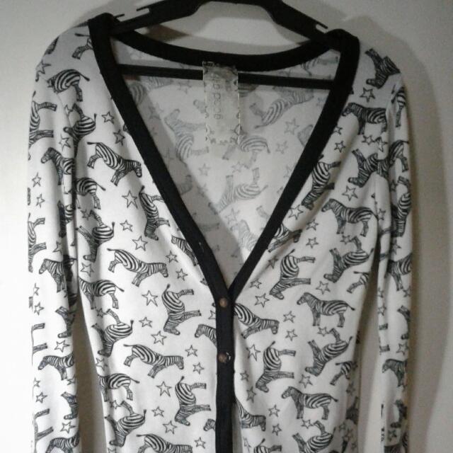 Zebra Pattern Cardigan