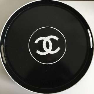 Round Faux Chanel Tray