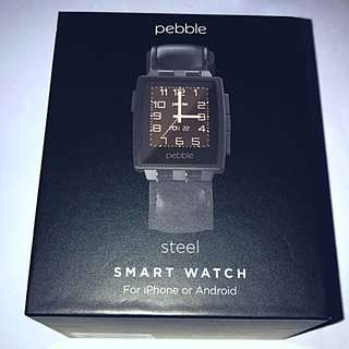Pebble Steel Smart Watch