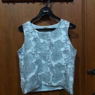 Grey Flower Top