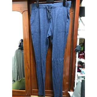 Uniqlo 修身 棉褲 藍 M號