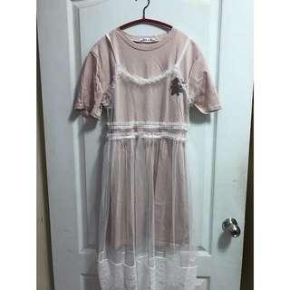蕾絲兩件式裙子