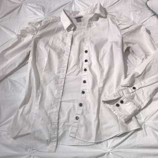 White H&M Dress Shirt (size 6)