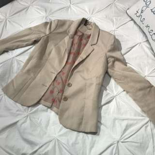 Beige H&M Blazer (size 6)