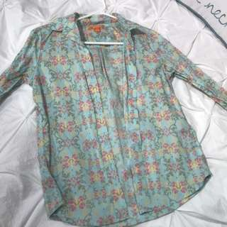 Floral Joe Fresh Dress Shirt (S)