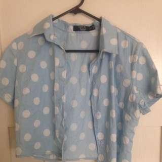 Vintage Paper Heart Poka Shirt