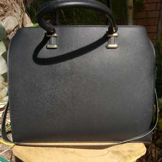 Structured Spacious Black Bag