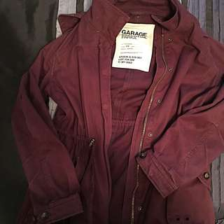 Garage Burgundy Parka