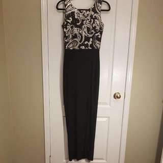 Boohoo Sequins Long Dress