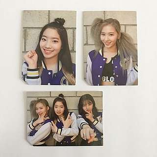 TWICE Official Page Two Dahyun Sana & Jihyo Photocards