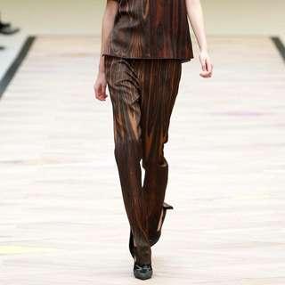Celine FW2011 wood printed trousers.
